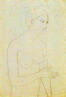 Pablo Picasso. Nude Woman, 1903