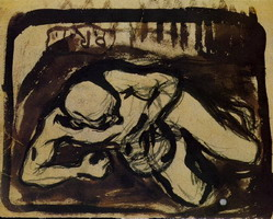 Pablo Picasso. Man down, 1899