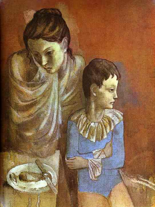 Pablo Picasso. Tumblers (Mother and Son), 1905