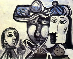 Pablo Picasso. Man, woman and child, 1969