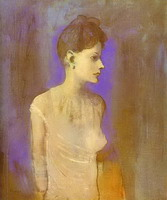 Pablo Picasso. Girl in a Chemise, 1904 - 1905