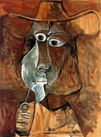 Pablo Picasso. Man with pipe, 1969