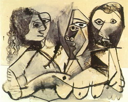 Pablo Picasso. three characters, 1971