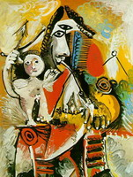 Pablo Picasso. Musketeer and love, 1969