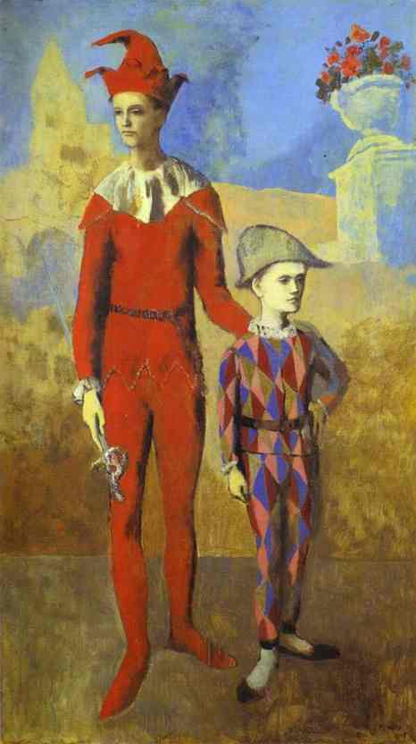 Pablo Picasso. Acrobat and Young Harlequin, 1905