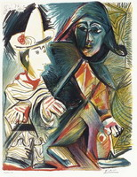 Pablo Picasso. Pierrot and Harlequin, 1972