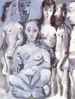Pablo Picasso. Naked men and women, 1967