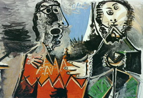 Pablo Picasso. Two men, 1969