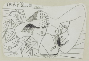 Pablo Picasso. Reclining Nude III, 1972