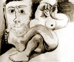 Reclining Nude and Head d`homme
