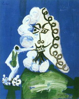 Pablo Picasso. Seated Man with a Pipe