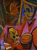 Pablo Picasso. Composition with a Skull, 1908