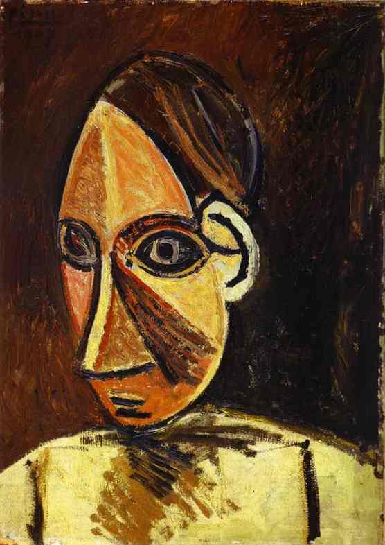 Pablo Picasso. Head of a Woman, 1907