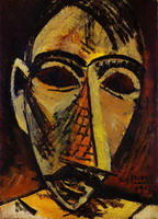 Pablo Picasso. Head of a Man, 1907