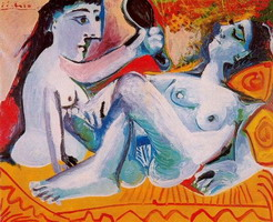 Pablo Picasso. The two friends