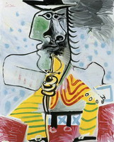 Pablo Picasso. Man with sword, 1969