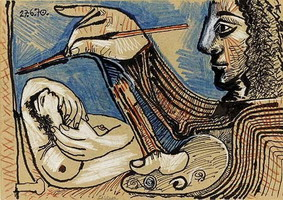 Pablo Picasso. The Artist and His Model 5, 1970