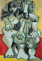 Pablo Picasso. Naked man and woman