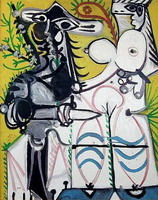 Pablo Picasso. Man and woman, 1969