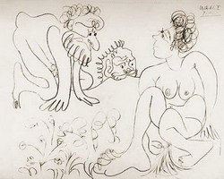 Pablo Picasso. Susanna and the Elders 2, 1966