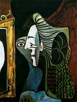 Pablo Picasso. Woman in mirror, 1963