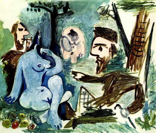 Pablo Picasso. The Luncheon on the grass (Manet) 4, 1961