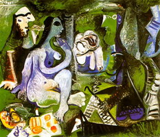 Pablo Picasso. The Luncheon on the grass (Manet) 3