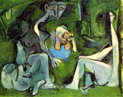 Pablo Picasso. The Luncheon on the grass (Manet) 8