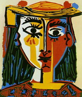 Pablo Picasso. Woman with hat, 1935