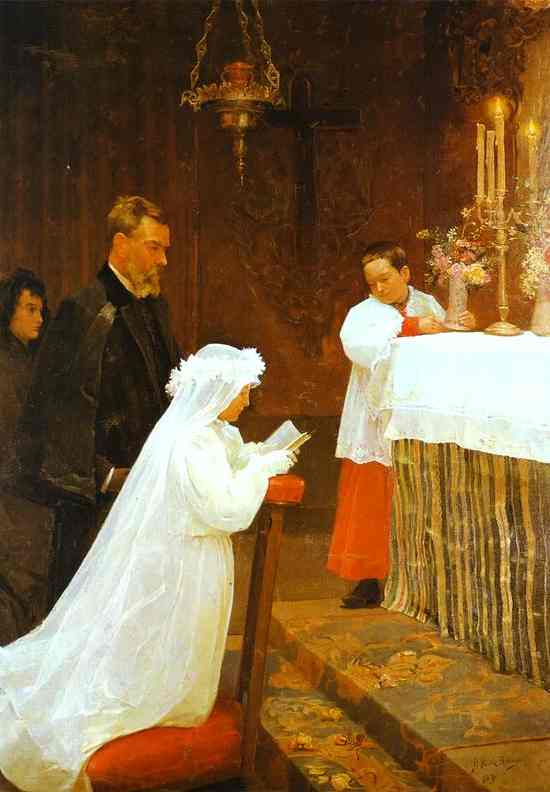 Pablo Picasso. First Communion, 1896