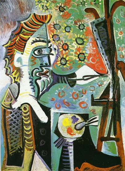Pablo Picasso. The painter III, 1963