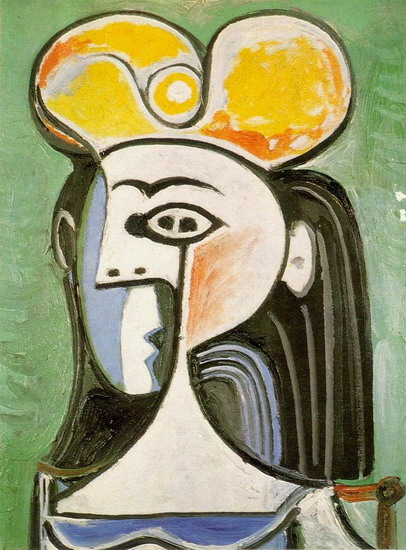 Pablo Picasso. Female bust, 1955