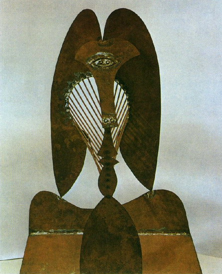 Pablo Picasso. Maquette sculpture in Chicago, 1967