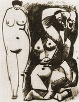 Pablo Picasso. Two naked, 1956