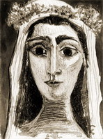 Pablo Picasso. Jacqueline married, Front I (XIV)