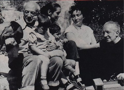 With Françoise , Paul Eluard and his wife Dominique