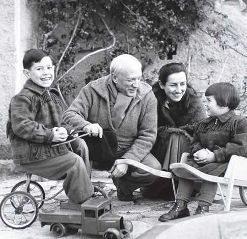 with Françoise and children