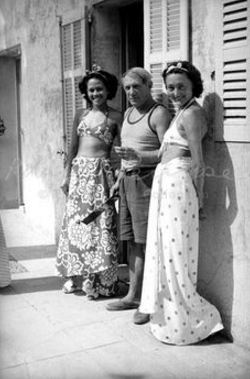 Ady Fidelin, Picasso and Nusch Eluard