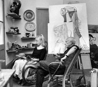 Picasso and Sylvette David, 1954