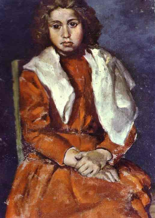 Pablo Picasso. The Barefoot Girl. Detail, 1895
