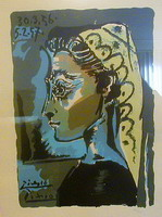 Pablo Picasso. Head-woman Profile