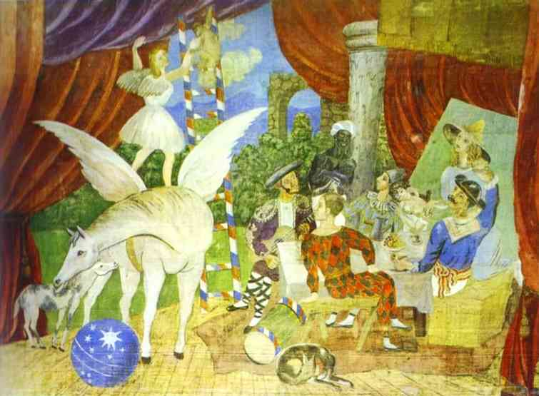 Pablo Picasso. Sketch of Set for the