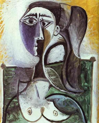 Pablo Picasso. Bust of a woman sitting 2, 1960