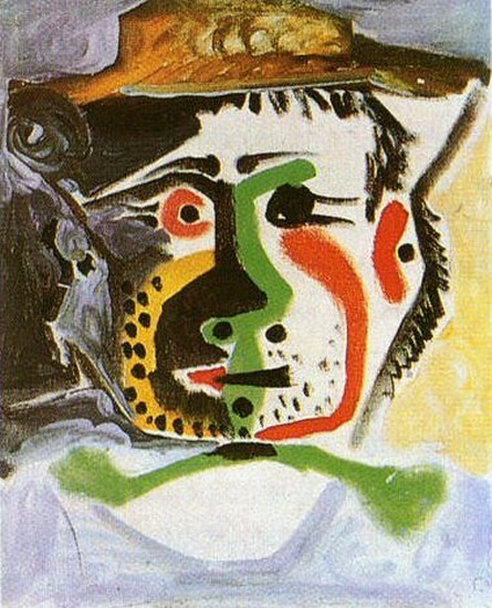 Pablo Picasso. Head man with a hat, 1972