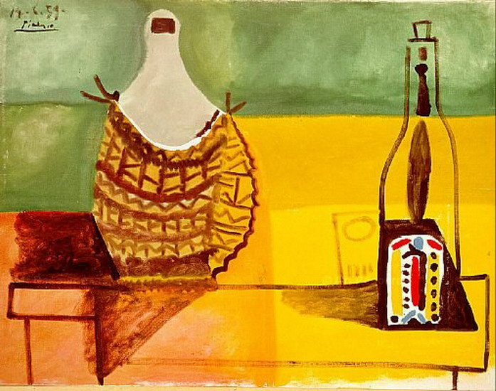 Pablo Picasso. Still life with demijohn, 1959