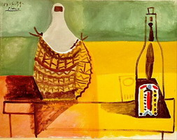 Pablo Picasso. Still life with demijohn