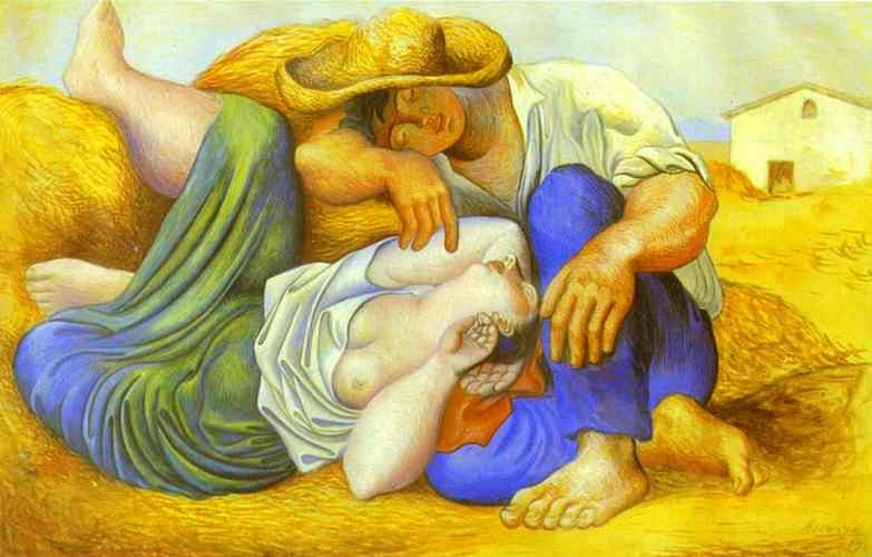 Pablo Picasso. Sleeping Peasants, 1919