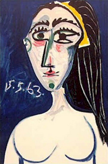 Pablo Picasso. Naked woman Bust, 1963