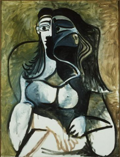 Pablo Picasso. Woman sitting in an armchair, 1917