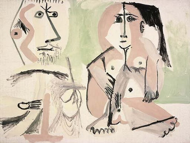Pablo Picasso. The Artist and His Model 6, 1964